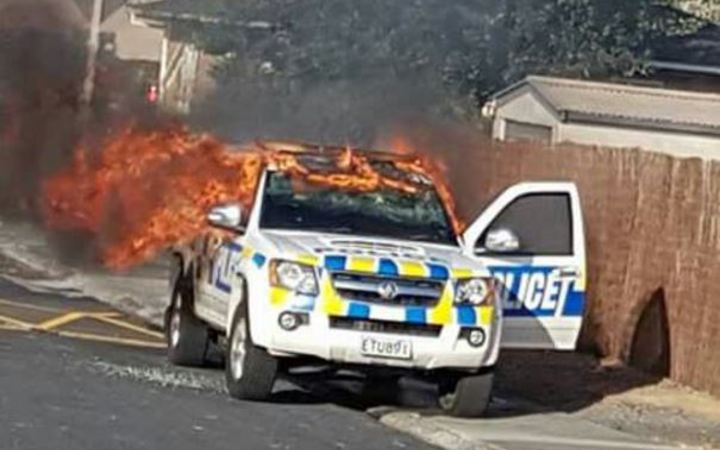 Two Arrests After Police Car Stolen Torched Radio New