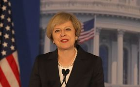 British PM Theresa May speaks at the Congress of Tomorrow Republican Member Retreat, Philadelphia, 26 January.