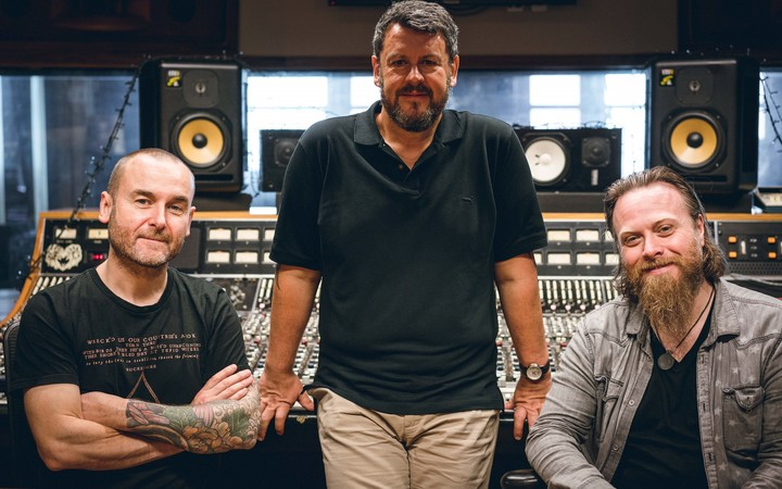 Guy Massey, Greg Haver and Dave Eringa at the Producers master class in Auckland.