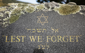 Holocaust Remembrance Day held at Makara Cemetery in Wellington.