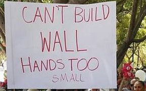 cant build wall poster