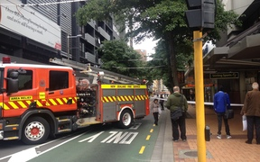 The fire service has cordoned off Willis st in Central Wellington due to a risk of glass falling off a nearby building.