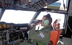 Australian Air Force crew are leading the southern search.
