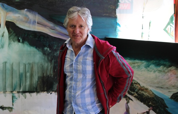 John Walsh in his studio