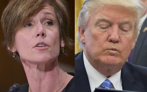 Former US Attorney General Sally Yates and President Donald Trump