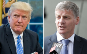 US President Donald Trump and New Zealand Prime Minister Bill English.