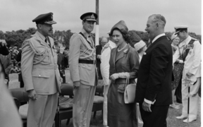The Queen's 1963 visit to Waitangi