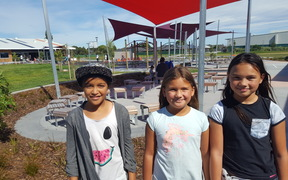 Koia, Navaeh and Maia are excited to be heading into Year 4, 5 and 6 at the new Haeata Community Campus.