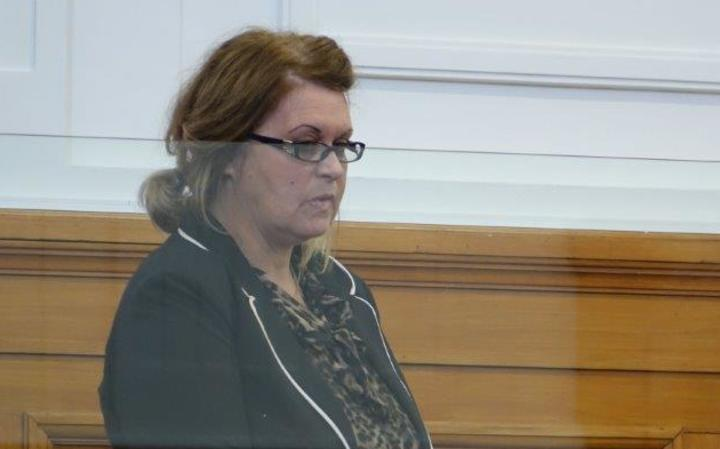 Donella Knox in the High Court in Blenheim during sentencing.