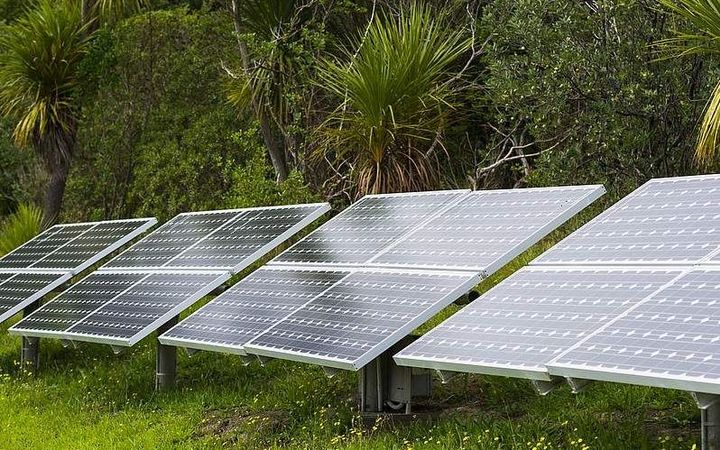 Solar panels that power the lighthouse on Tiritiri Matangi Island.
