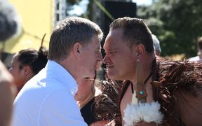 Bill English at Waitangi Day celebrations.