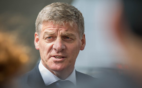 Bill English talking to media after announcing he will not attend Waitangi