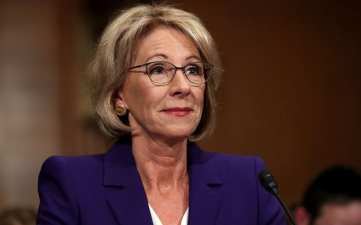 Donald Trump's nominee for the secretary of education position, Betsy DeVos.