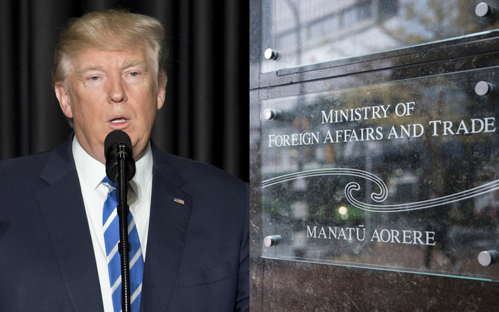 Donald Trump, Ministry of Foreign Affairs and Trade sign.