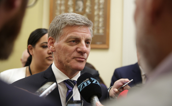 Prime Minsiter Bill English after a caucus meeting on February 7.
