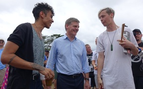 Prime Minister Bill English at Big Gay Out in Auckland.