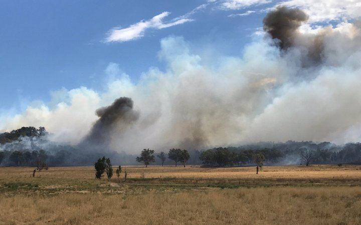 Bushfires rage in Dunedoo, in Central Western New South Whales