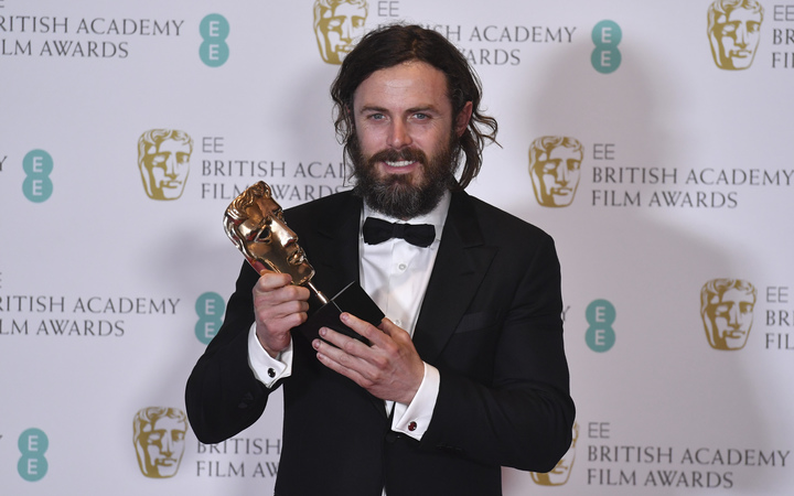 Casey Affleck picked up the best actor Bafta for Manchester by the Sea.