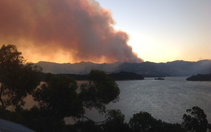 Fire on the Port Hills
