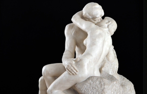 Auguste Rodin, The Kiss, 1901-04, pentelican marble, 1822 x 1219 x 1530mm, 3180 kg.