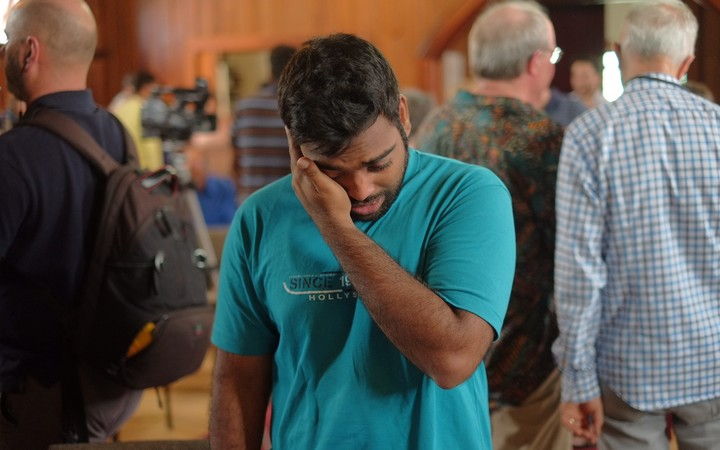 Tears of joy from Indian students facing deportation, as word spreads that immigration officials will not come today.