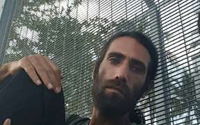 Behrouz Boochani at the Manus Island detention.