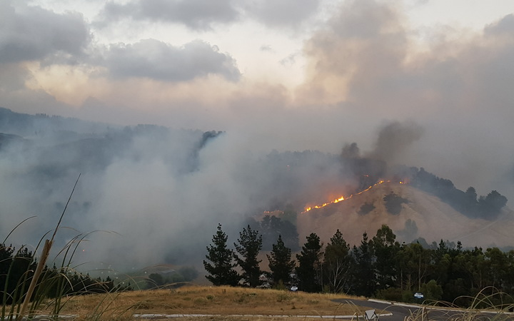 The Port Hills fire near Christchurch Adventure Park.