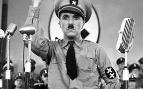 Charlie Chapman in The Great Dictator