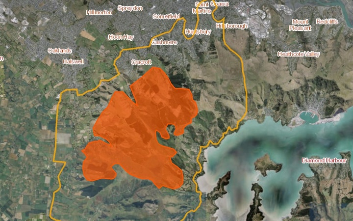 Hills Fire Map.Port Hills Fire What You Need To Know Rnz News