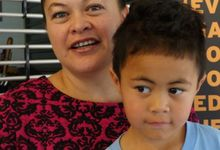 Kim Peita from Moerewa and her son at post budget post mortem last week in Whangarei.