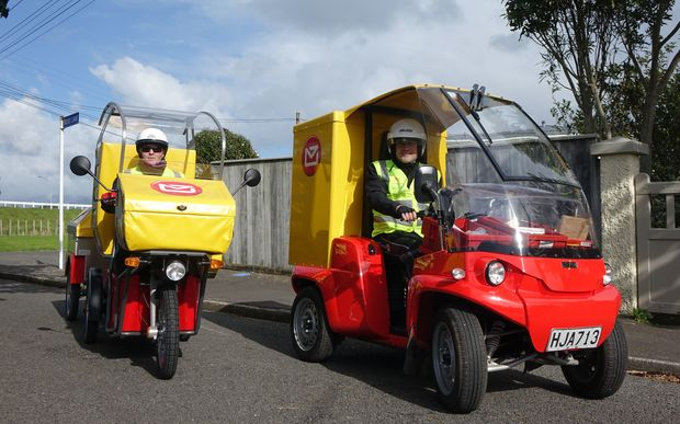 NZ Post's new electric vehicles.