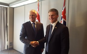 Australian Prime Minister Malcolm Turnbull meets with Bill English in Queenstown