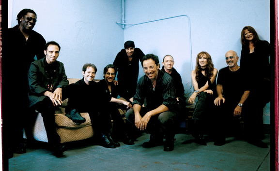 Bruce Springsteen and the E Street Band, with Nils Lofgren second from left