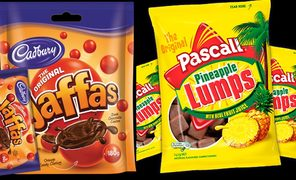 Jaffas and Pineapple Lumps are manufactured in Cadbury's Dunedin factory which is set to close.