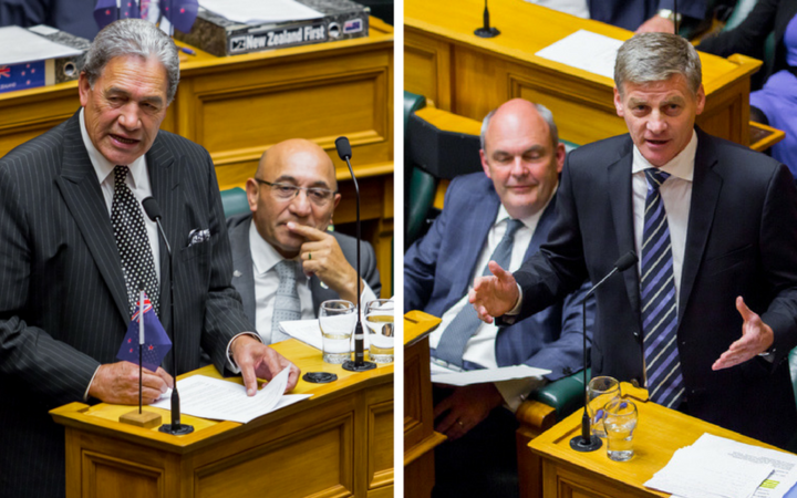 Bill English & Winston Peters in the house