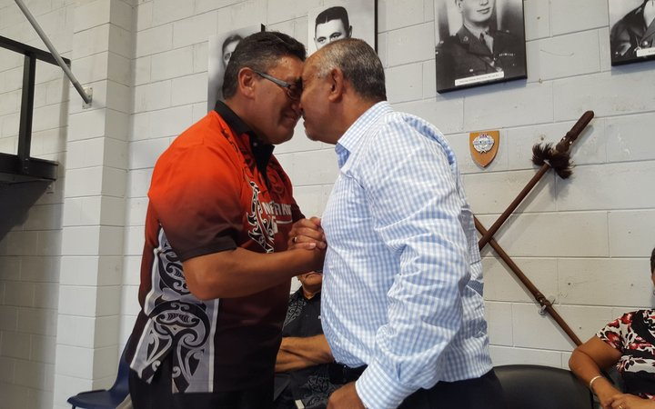 "Hone Harawera (left) & Tukoroirangi ""Tuku"" Morgan seal the new deal."