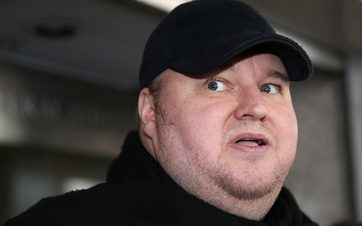 Kim Dotcom after a court appearance in Auckland in 2015.