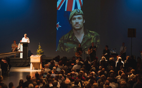 Hundreds gathered for Steve Askin's funeral in Christchurch.