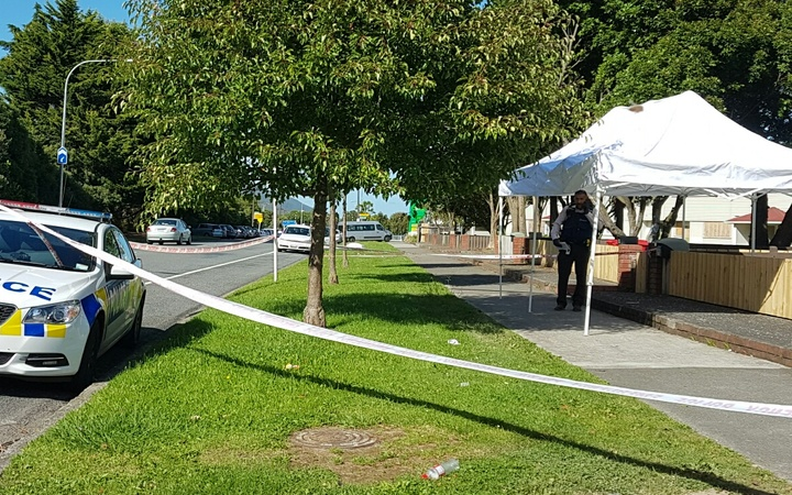 Police cordoned off the site at Taita, Lower Hutt.