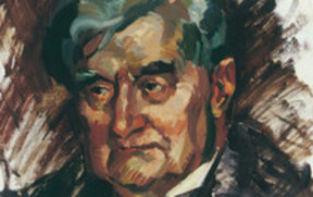 Portrait of Vaughan Williams by Evelyn Page