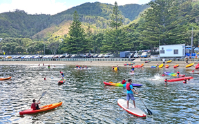 Wellingtonians made the most of the hot weather at Days Bay, Lower Hutt on 20 February.
