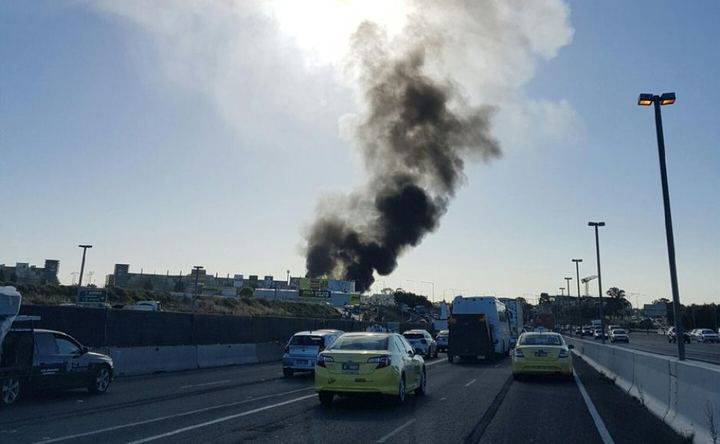Smoke has been seen billowing from the scene of the crash.