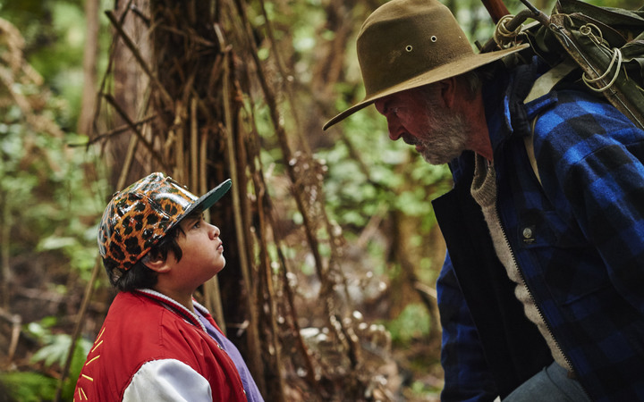 Julian Dennison & Sam Neill in Hunt for the Wilderpeople