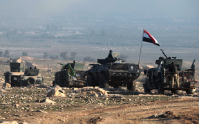 Iraqi forces advance towards Mosul airport 23 February.