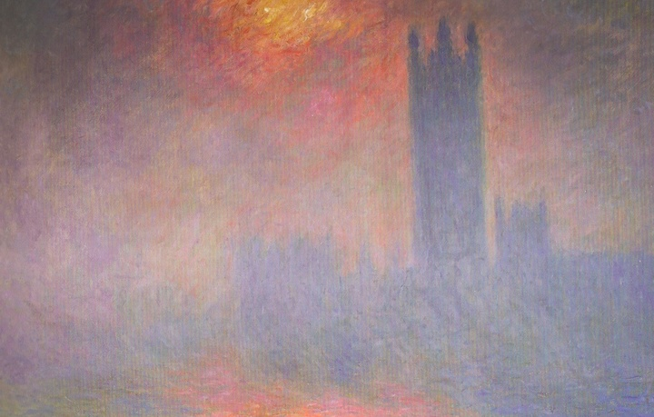 Monet: London, Houses of Parliament, The sun shining through the fog