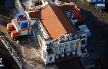 The damaged Catholic Basilica in Christchurch.