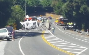 At least five people have been injured in a crash between Richmond and Mapua on the Coastal Highway in Tasman District.