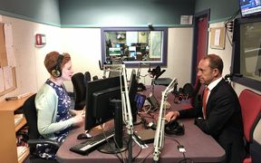 Andrew Little talks to Susie Ferguson in the Wellington studio