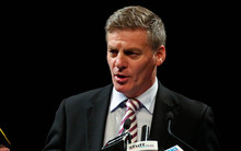 Bill English giving his Post Budget 2015 speech.
