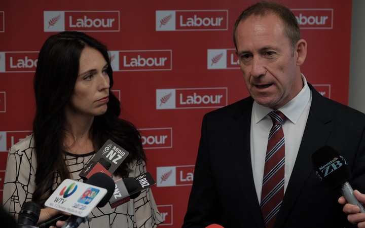 Jacinda Ardern and Andrew Little
